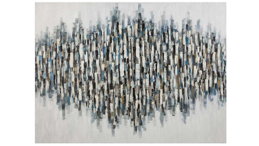 Blue Lines Canvas Art 96