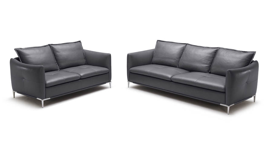 Grey Bristol Leather Sofa Set With seat And Chair | Zuri Furniture on chaise sofa sleeper, chaise furniture, chaise recliner chair,