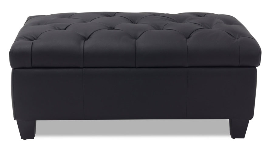 Carson Tufted Contemporary Ottoman Black Zuri Furniture