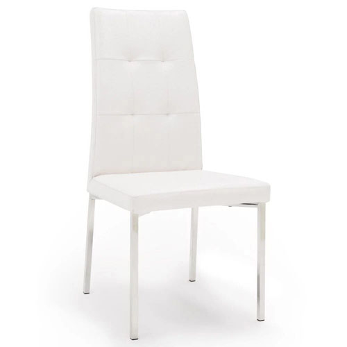 Modern Dining Chair With Chrome Legs