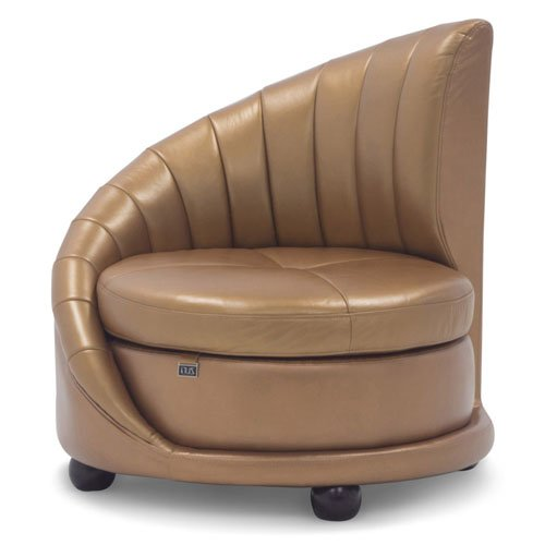 Chelsey Contemporary fortable Leather Lounge Chair