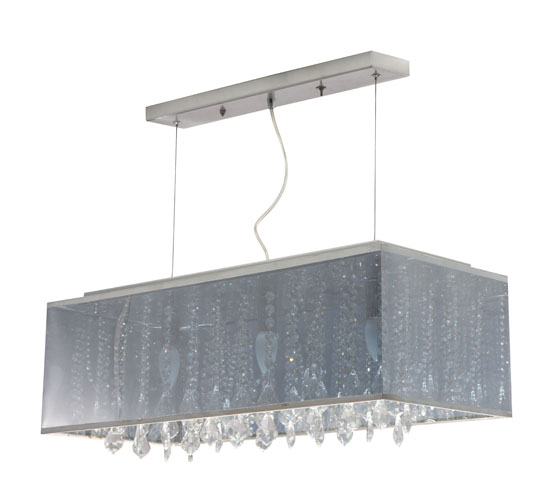 Metallic And Translucent Cristallo Ceiling Fixture Zuri