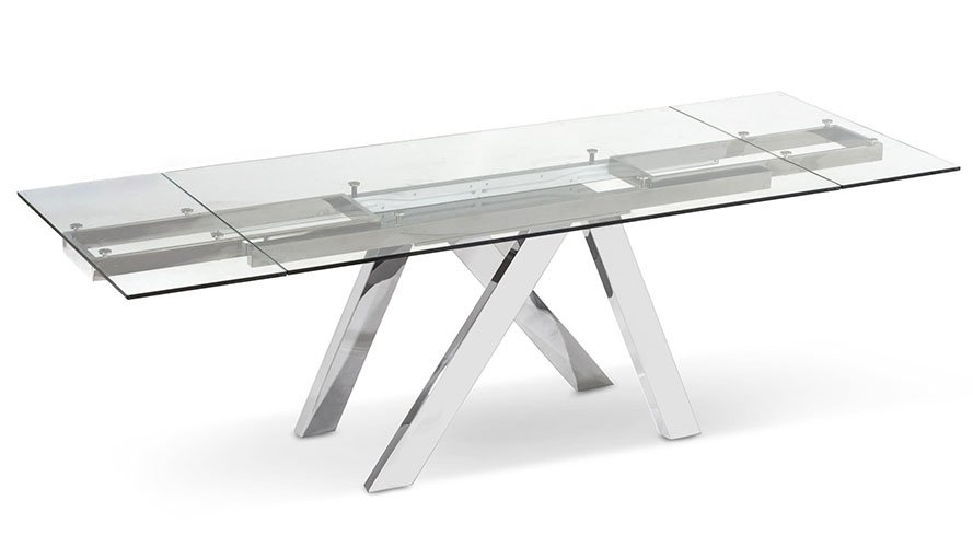 expandable furniture. unique expandable cruz expandable modern dining table with clear glass top  zuri furniture to