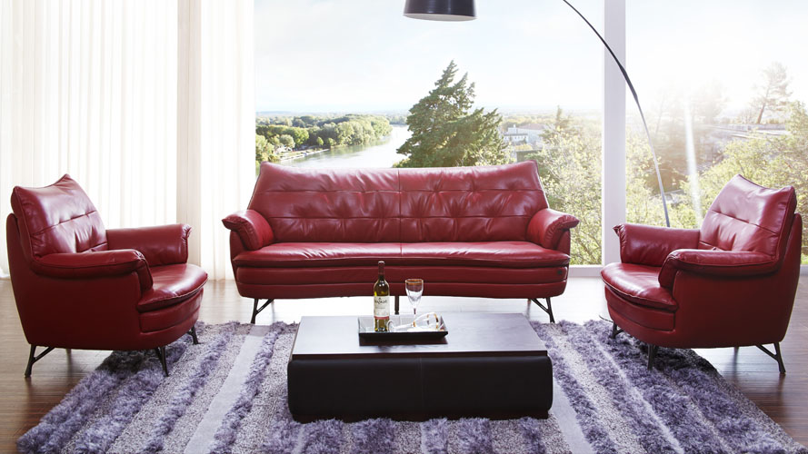 Italian Leather Sofa And Lounge Chair