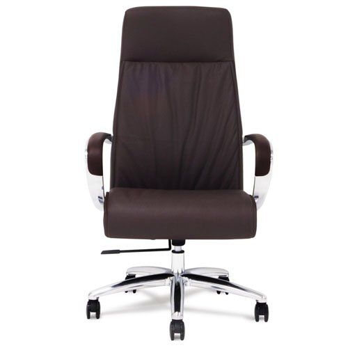 Forbes Leather Executive Chair Dark Brown