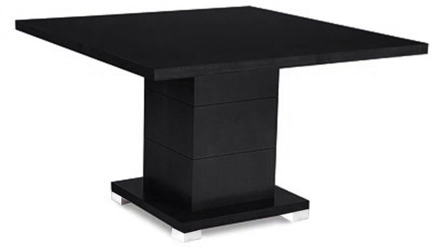 Ford Executive Modern Conference Table In Black Oak Finish   Square | Zuri  Furniture