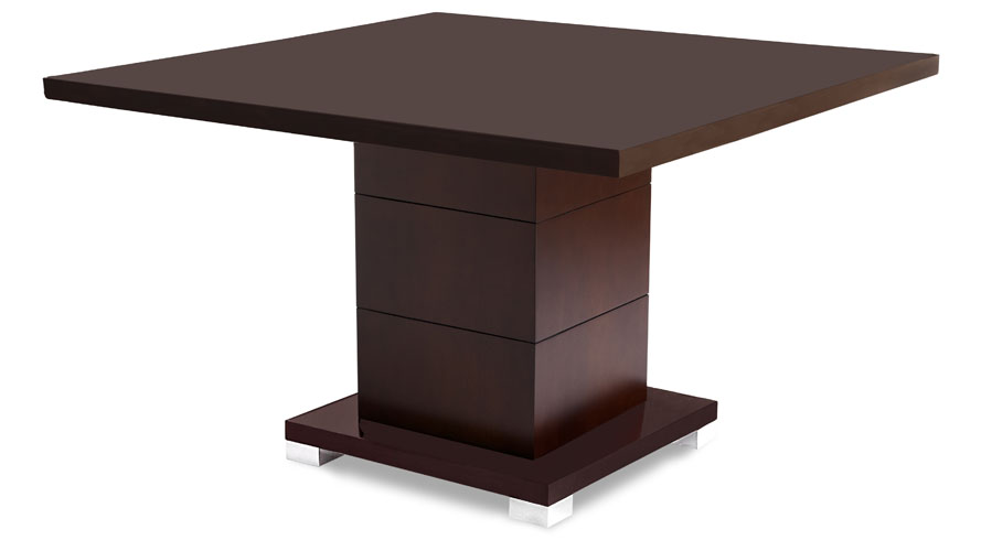 Ford Executive Modern Conference Table In Dark Walnut Wood   Square | Zuri  Furniture