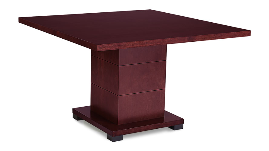 modern conference table in mahogany wood square zuri furniture