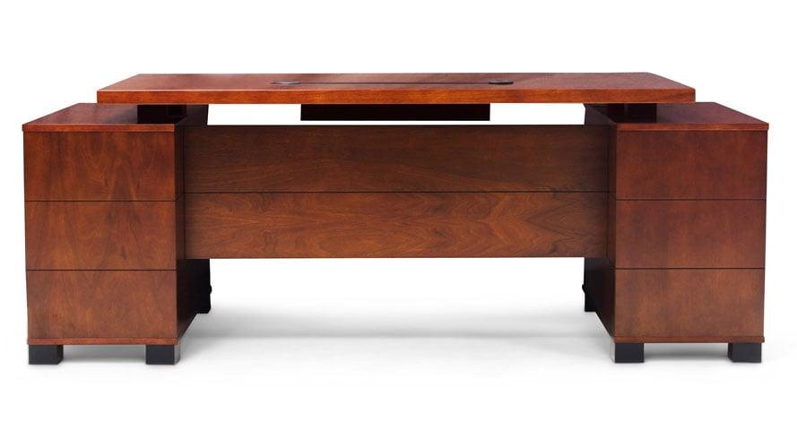 Ford Light Wood Executive Desk Modern Contemporary Office Zuri
