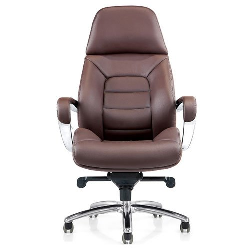 Gates Genuine Leather Aluminum Base High Back Executive Chair ...
