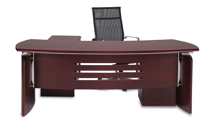 Harrison Mahogany Executive Desk With Rolling Return And