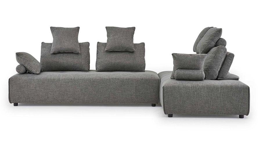 Knox Modular Sectional Sofa Set In Gray