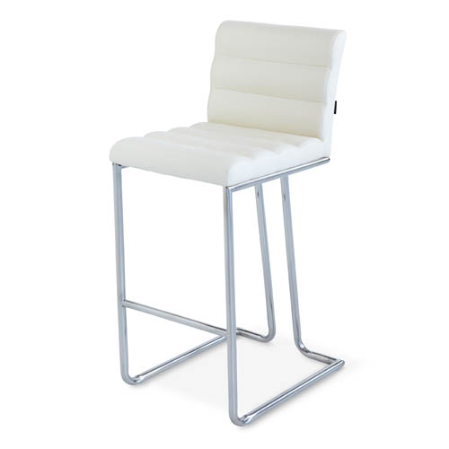 Luna Counter Height Modern Bar Stool With Metal Base