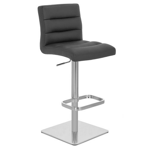 Lush Square Base Adjustable Height Swivel Armless Bar Stool | Zuri Furniture  sc 1 st  Zuri Furniture & Lush Square Base Adjustable Height Swivel Armless Bar Stool | Zuri ... islam-shia.org