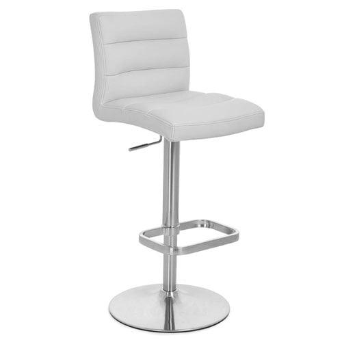 Lush Adjustable Height Swivel Armless Bar Stool Zuri Furniture