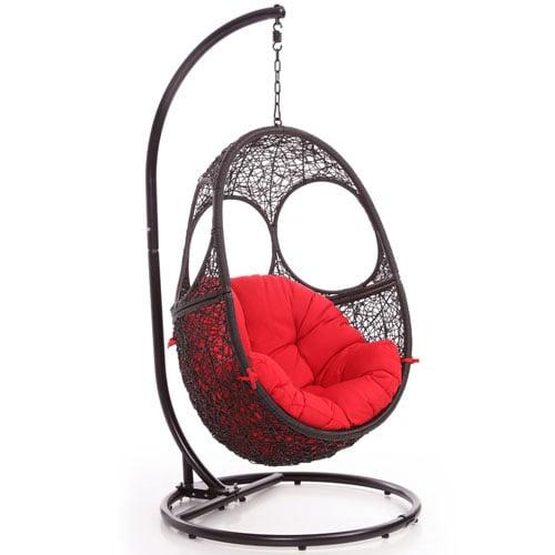Attirant Malaga Swing Chair   Black