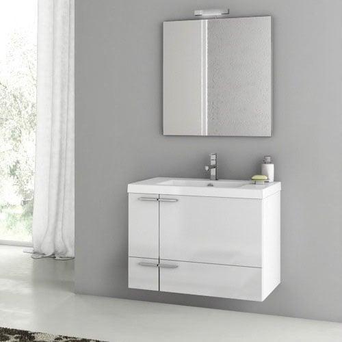 Modern 31 Inch Bathroom Vanity Set With Ceramic Sink