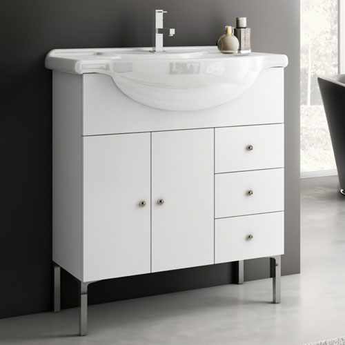 Modern 32 Inch London Vanity Set With Ceramic Sink