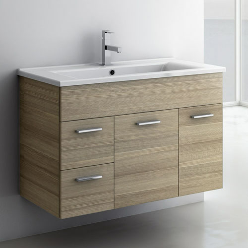 Modern 32 Inch Loren Vanity Set With Ceramic Sink Larch