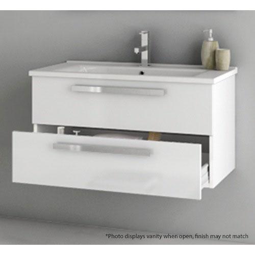 Modern 33 Inch Dadila Vanity Set With Ceramic Sink Grey