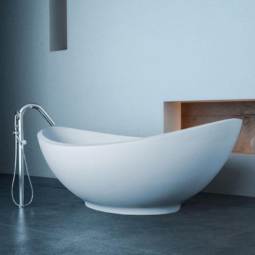 Modern Lavasca Mini Freestanding Soaker Bathtub Zuri