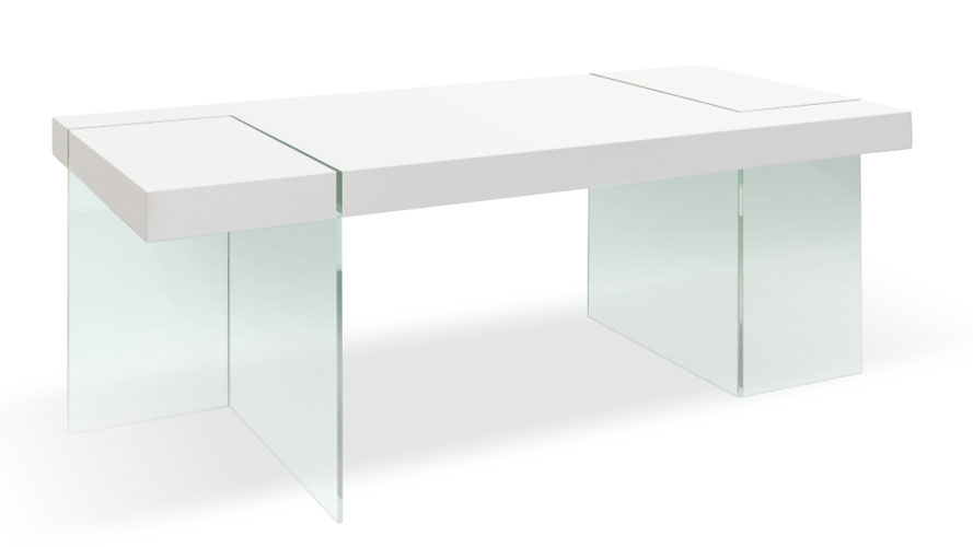 modern white lacquer and tempered glass cerise dining