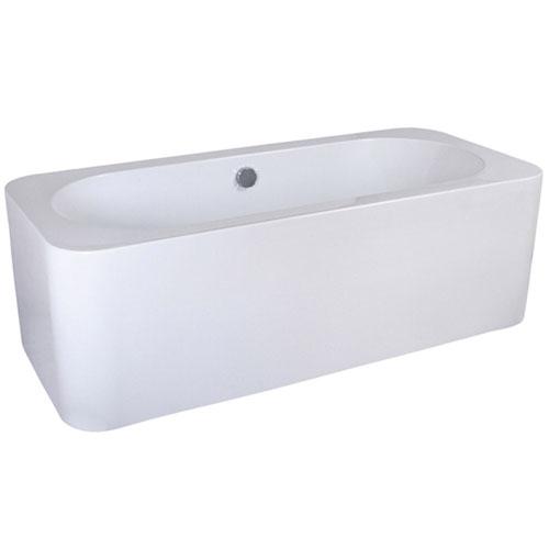 Modern White Rectangular Kiran Drop In Alcove Bathtub