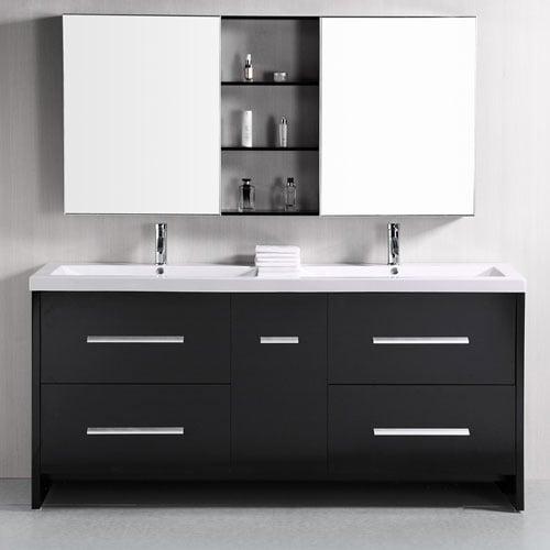 Donovan 72 Quot Double Sink Vanity Set Zuri Furniture