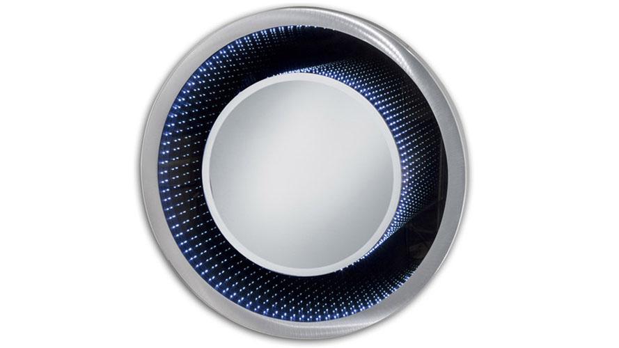Modern Evanesce Infinity Mirror Round Silver Zuri
