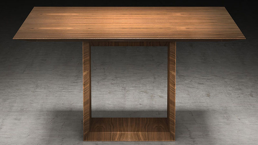 Galice Square Wood Dining Table Zuri Furniture