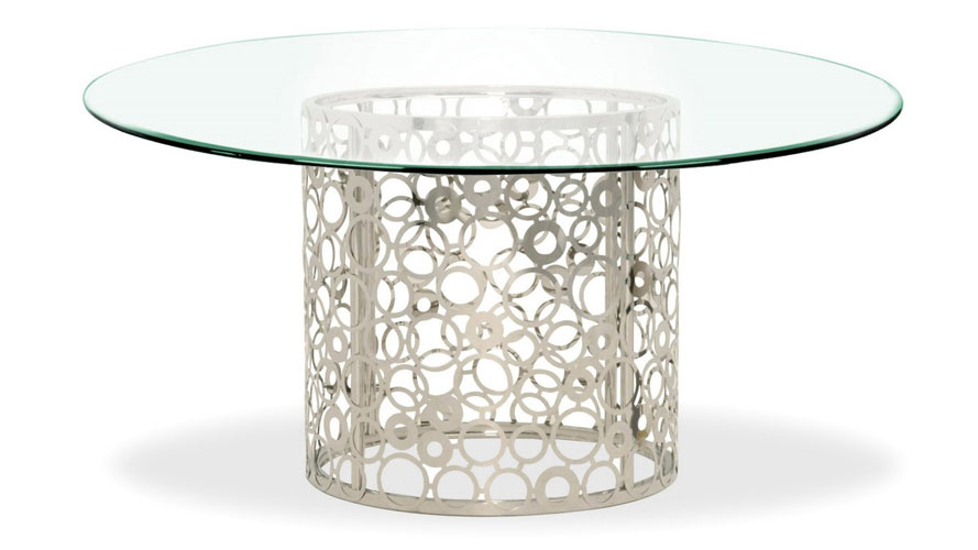 Galileo Inch Clear Glass Dining Table Zuri Furniture - 72 round glass dining table
