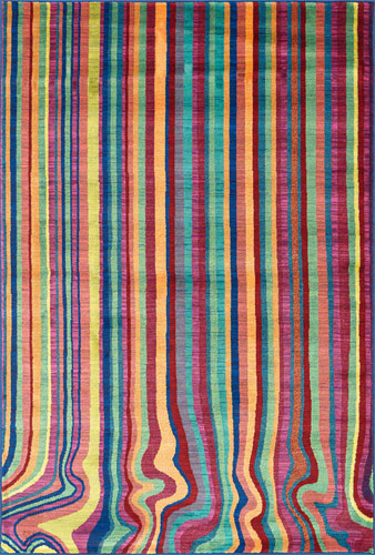 Monet Stripes Rug Zuri Furniture