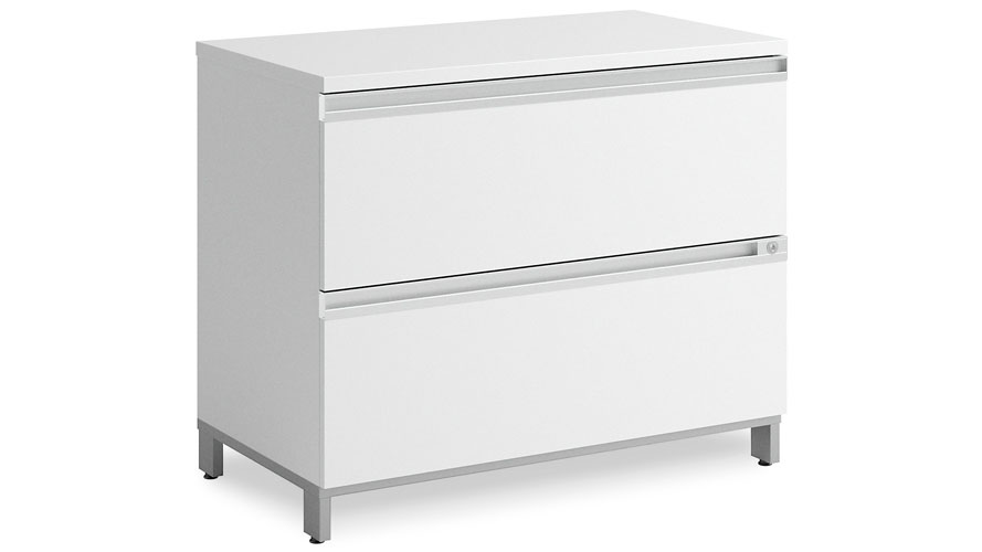 Modern Office BBF Momentum 2 Drawer Lateral File Cabinet In White | Zuri  Furniture