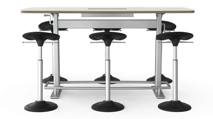 Focal Upright Confluence 6 Bundle Conference Table + Seats | Zuri Furniture