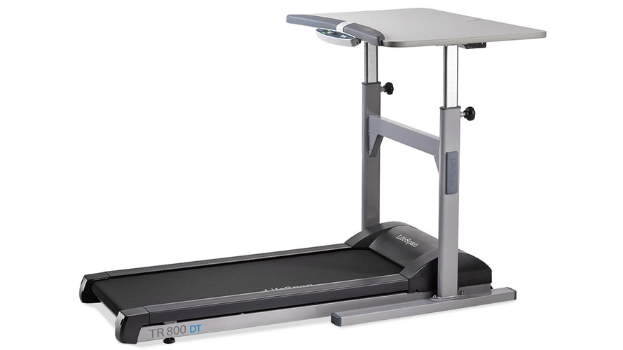 Modern Office LifeSpan Light Use Treadmill With Manual Desk With Bluetooth  Display | Zuri Furniture