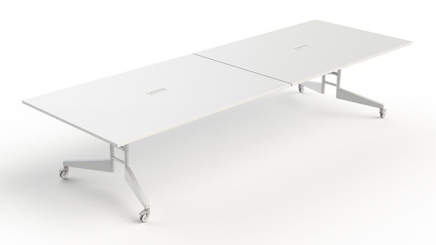 SCALE NOMAD Folding Conference Table Zuri Furniture - Large white conference table