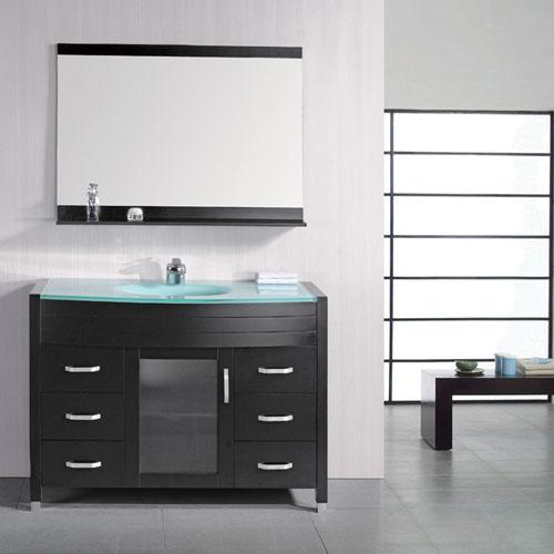 Walton 48 Quot Single Sink Glass Vanity Set Zuri Furniture