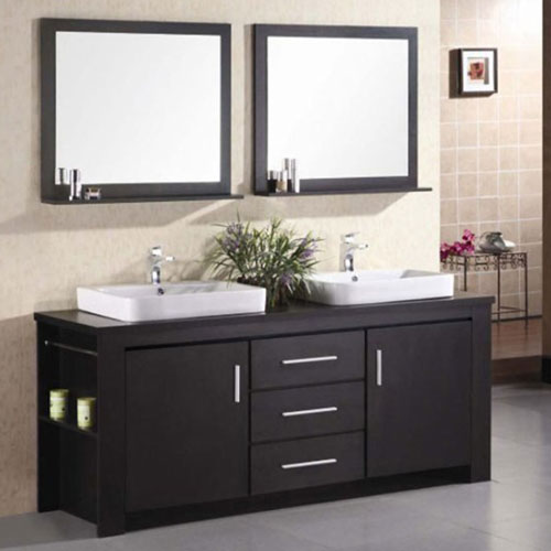 Weston 72 Quot Double Sink Vanity Set Zuri Furniture