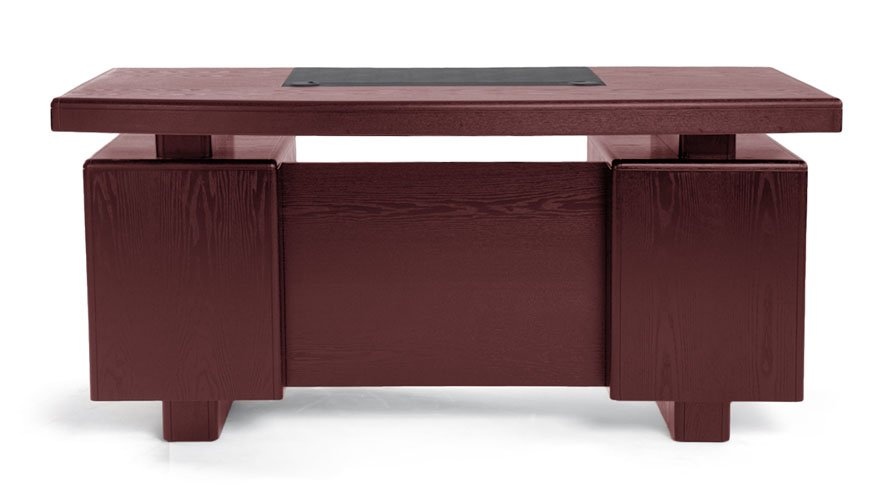 Superieur Monroe Mahogany Wood Modern Desk With Leather Pad And Storage | Zuri  Furniture