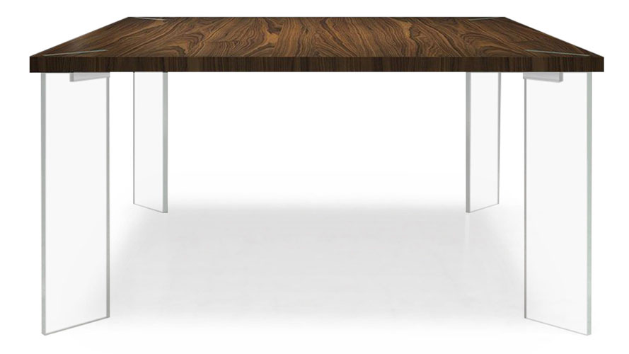 Montriond Glass Dining Table Zuri Furniture - Glass or wood dining table