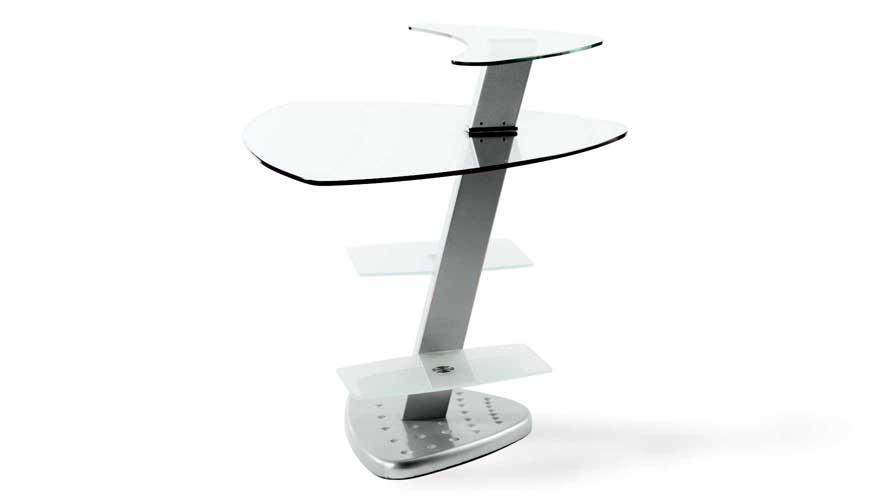 Nico Clear Glass Desk With Metal Frame Zuri Furniture