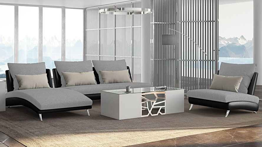 modern living room furniture giessegi modular | Palms Modular Sectional Sofa with Chaise and Chair Set ...
