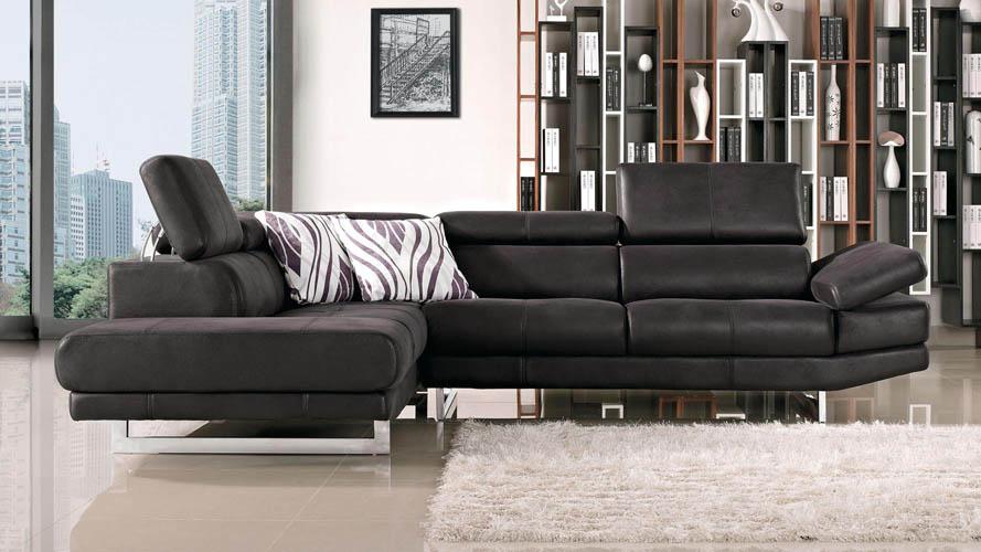 Paulo Suede Sectional Sofa Zuri Furniture