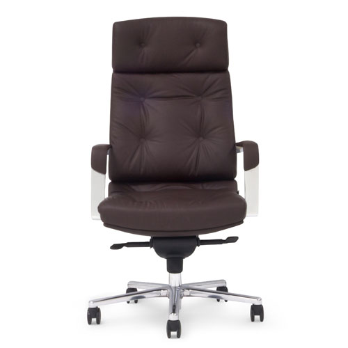 Perot Leather Executive Chair   Dark Brown