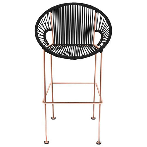 puerto counter stool copper frame - Modern Counter Stools