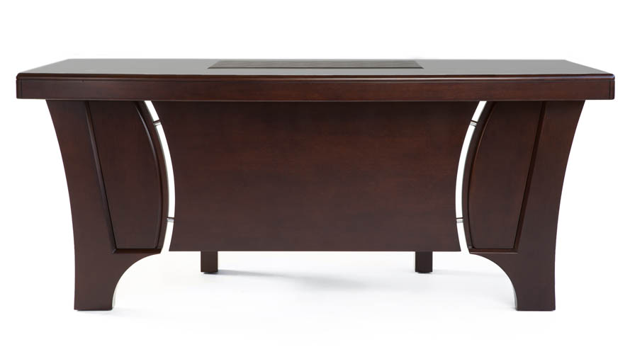 Quincy Modern Wood Desk With Rolling Return And File