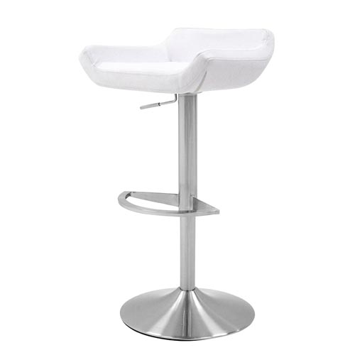 Ray Adjustable Height Swivel Armless Bar Stool Zuri