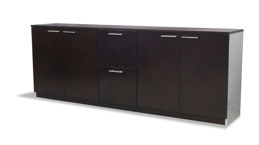 Reagan Dark Wood Credenza Cabinet Modern Amp Contemporary
