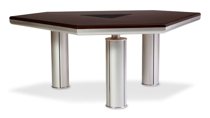 Tyler Modern Conference Table With Woot Top And Metal Legs | Zuri Furniture