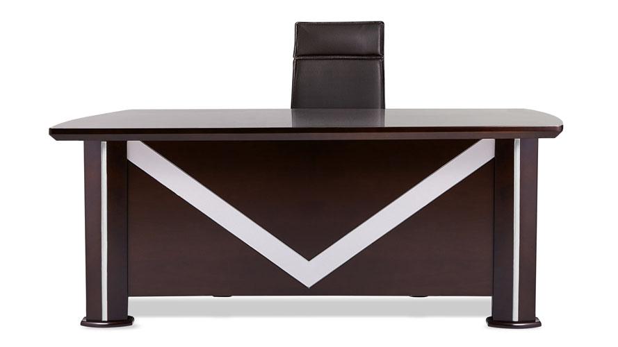 Walker Modern Dark Wood Desk With Rolling Return And File Cabinet Zuri Furniture